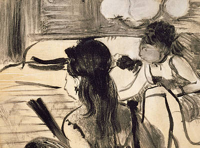 Prostitutes Drawing - Illustration From La Maison Tellier By Guy De Maupassant by Edgar Degas