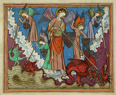 Religious Art Photograph - Image From St John's Apocalypse by British Library