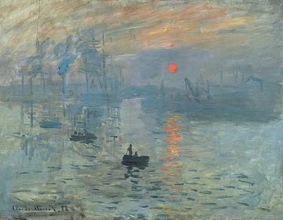 Sunrise Over Water Painting - Impression - Sunrise by Claude Monet
