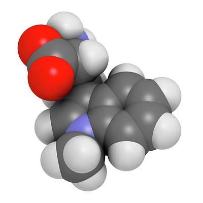 Indoximod Cancer Drug Molecule Art Print