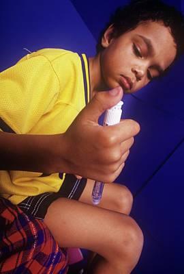 Insulin Wall Art - Photograph - Insulin Injection by David Hay Jones/science Photo Library