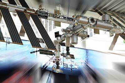 International Space Station Photograph - International Space Station Model by Detlev Van Ravenswaay
