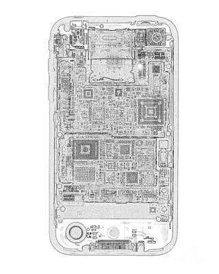 Iphone X-ray Art Print