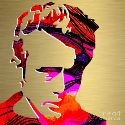 James Dean Mixed Media - James Dean Gold Series by Marvin Blaine