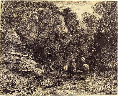 Pi Drawing - Jean-baptiste-camille Corot French, 1796 - 1875 by Quint Lox