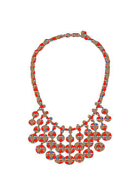 Painting - Jewel Strings Necklace  Artistic Color Tone N Textures Diy Template Download License Print Rights  by Navin Joshi