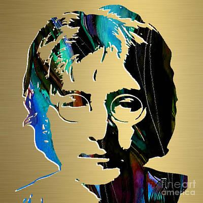 Lennon Mixed Media - John Lennon Gold Series by Marvin Blaine