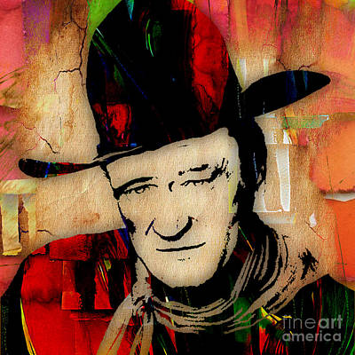 John Wayne Mixed Media - John Wayne Collection by Marvin Blaine