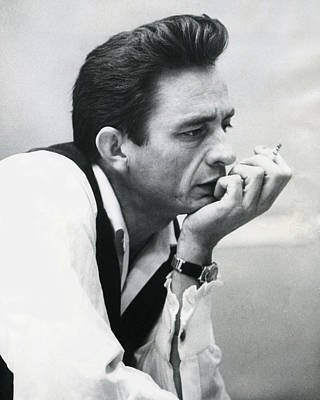 Blue Photograph - Johnny Cash by Retro Images Archive