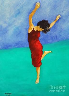Dagmar Painting - Jump Of Joy by Dagmar Helbig