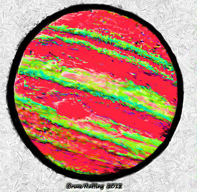 Jupiter In Many Colors Print by Bruce Nutting