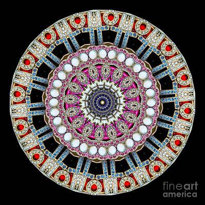 Jewelry Photograph - Kaleidoscope Colorful Jeweled Rhinestones by Amy Cicconi