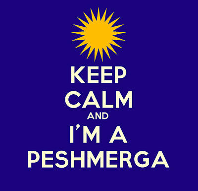 Painting - Keep Calm And I M A Peshmerga by Celestial Images