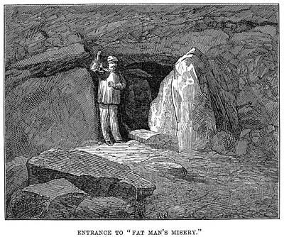 Kentucky Painting - Kentucky Mammoth Cave by Granger
