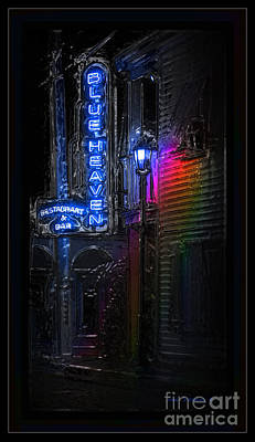 Photograph - Key West Florida - Blue Heaven Rendezvous by John Stephens
