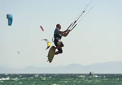 Wet On Wet Photograph - Kitesurfing Tarifa, Cadiz, Andalusia by Ben Welsh
