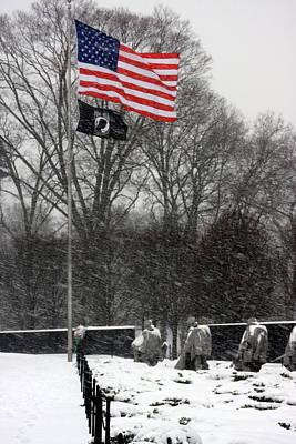 Photograph - Korean War Memorial by Andrew Romer