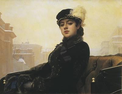 Realistic Photograph - Kramskoi, Ivan Nikolaevich 1837-1887 by Everett