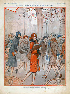 Drawing - La Vie Parisienne  1925 1920s France Cc by The Advertising Archives