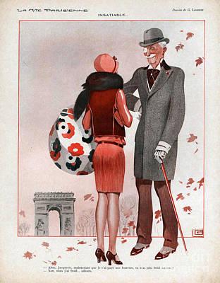 La Vie Parisienne  1928 1920s France Cc Art Print by The Advertising Archives