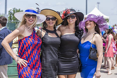 Photograph - 4 Ladies Kentucky Derby 2014 by John McGraw