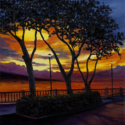 Lahaina Sunset Art Print by Darice Machel McGuire