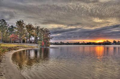 Photograph - 4 Lake Lenape W Sunrise6 by Greg Vizzi