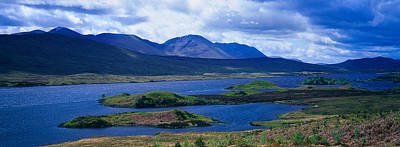 Rannoch Moor Photograph - Lake With Mountain Range by Panoramic Images
