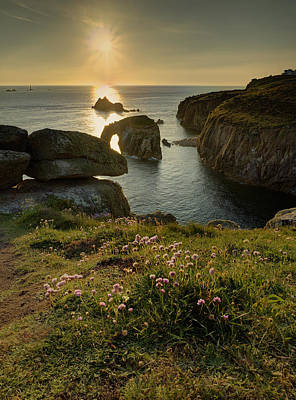 Polaroid Camera - Lands End sunset by Graham Moore