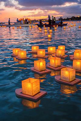 Lantern Floating Festival, Memorial Art Print
