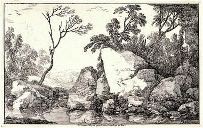 Dead Tree Drawing - Laurent De La Hyre French by Litz Collection