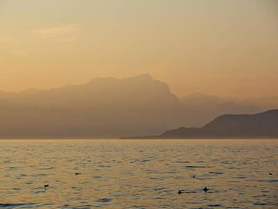Photograph - Lazise Sunset. Lago Di Garda by Jouko Lehto
