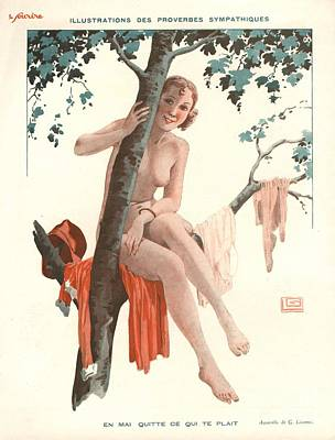Le Sourire 1920s France Glamour Erotica Art Print by The Advertising Archives