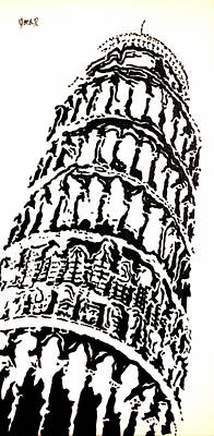 Leaning Tower Art Print by Oscar Penalber