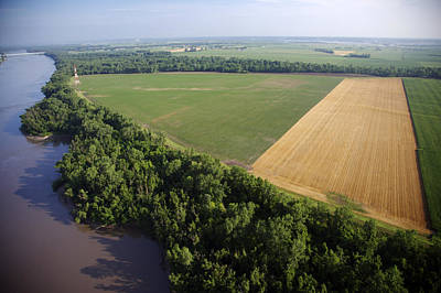 Photograph - Levee And Farmlands by Byron Jorjorian