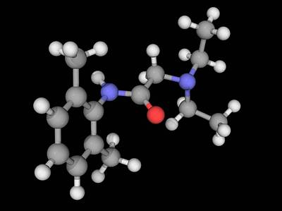 Lidocaine Drug Molecule Art Print by Laguna Design/science Photo Library