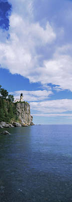 Lake Superior Lighthouse Photograph - Lighthouse On A Cliff, Split Rock by Panoramic Images