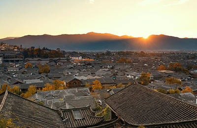 Photograph - Lijiang Old Buildings by Songquan Deng