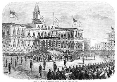 Lincoln's Funeral, 1865 Art Print by Granger