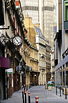 Stone Buildings Photograph - London Street by Elena Elisseeva