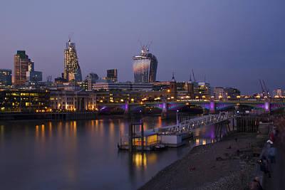 London Thames Bridges Art Print by David French