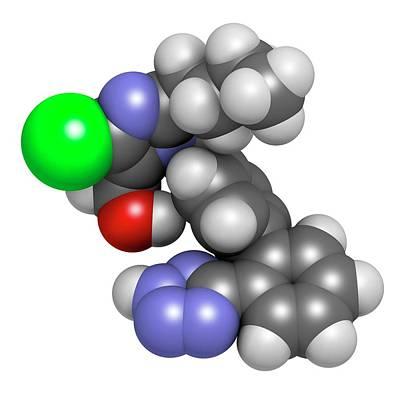 Combination Photograph - Losartan Hypertension Drug Molecule by Molekuul