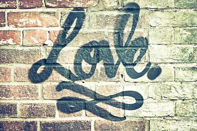 Love Graffiti Art Print by Tom Gowanlock