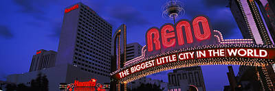 Reno Photograph - Low Angle View Of The Reno Arch by Panoramic Images