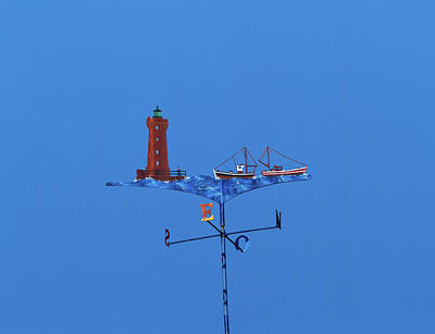 Low Angle View Of Weather Vane Art Print