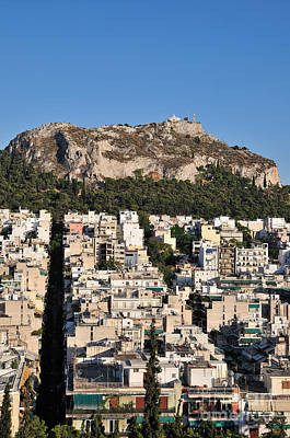 Hill Photograph - Lycabettus Hill During Sunset by George Atsametakis