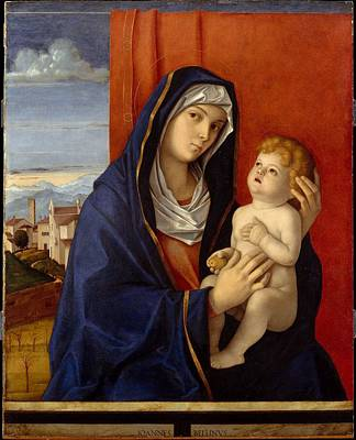 Religious Artist Painting - Madonna And Child by Giovanni Bellini