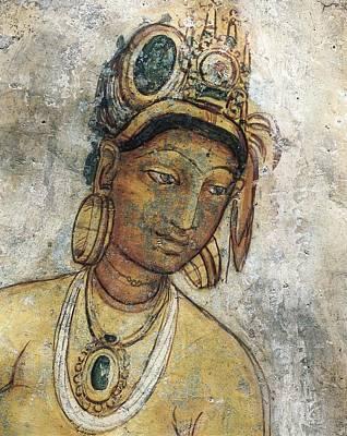 Maidens Among Clouds. 5th C. Sri Lanka Art Print by Everett