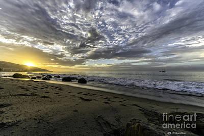 Malibu Mixed Media - Malibu Sunrise by Bill Baer