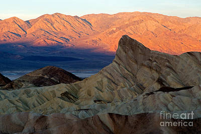 Photograph - Manly Beacon Zabrinskie Point Death Valley National Park by Fred Stearns
